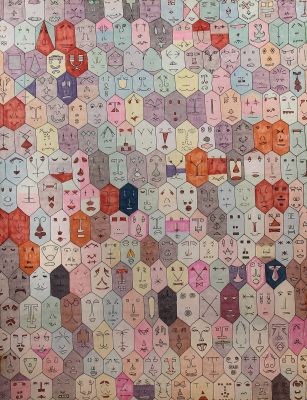 [Translate to English:] Alighiero Boetti, Faccine, moderne Grafik