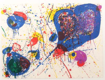 [Translate to English:] Sam Francis, Sam Francis, Light Violet, 1963, moderne Grafik